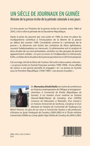 4eme Un siècle de journaux en Guinée. Histoire de la presse écrite de la période coloniale à nos jours Tome 3