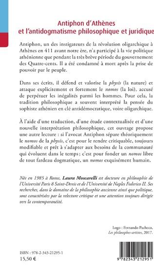 4eme Antiphon d'Athènes et l'antidogmatisme philosophique et juridique