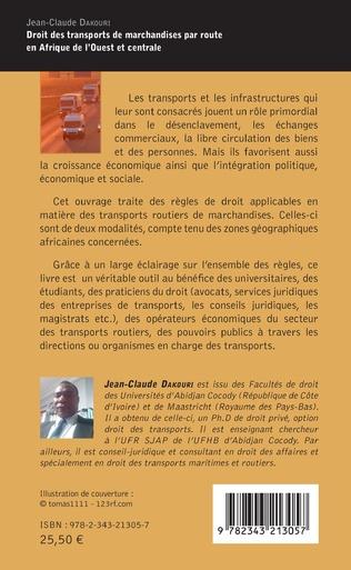 4eme Droit des transports de marchandise par route en Afrique de l'Ouest et centrale