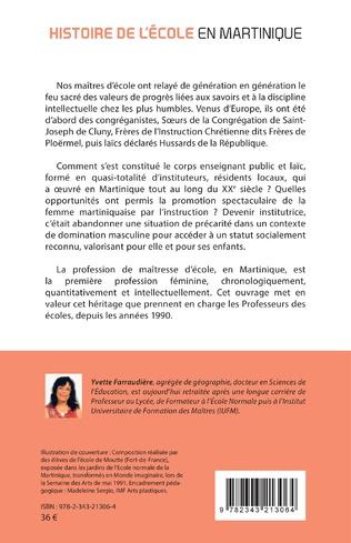 4eme Histoire de l'école en Martinique