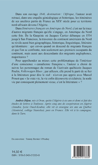4eme Itinéraires français en Amérique du Nord