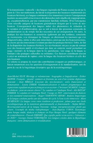 4eme Entre francisation et démarcation.