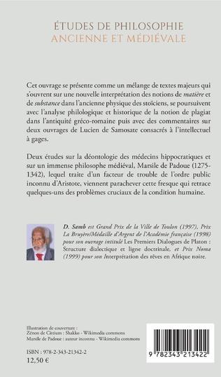 4eme Études de philosophie ancienne et médiévale