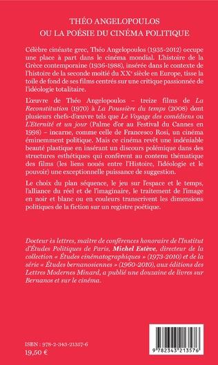4eme Théo Angelopoulos ou la poésie du cinéma politique