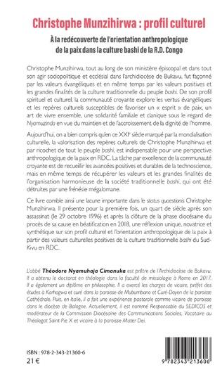 4eme Christophe Munzihirwa : profil culturel