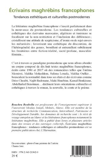 4eme Ecrivains maghrébins francophones
