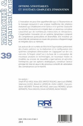 4eme Options stratégiques et systèmes complexes d'innovation