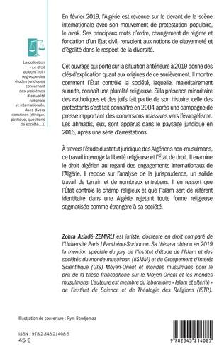 4eme Le statut juridique des non-musulmans en Algérie
