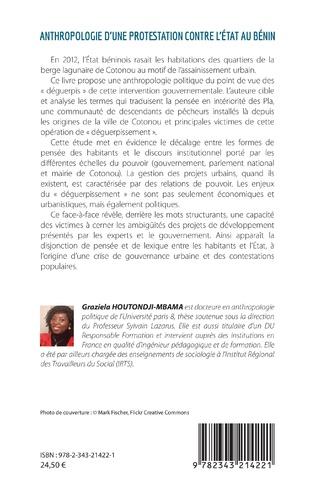 4eme Anthropologie d'une protestation contre l'État au Bénin