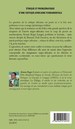 4eme Ethique et problématique d'une critique africaine fondamentale