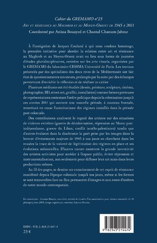 4eme Art et résistance au Maghreb et au Moyen-Orient de 1945 à 2011
