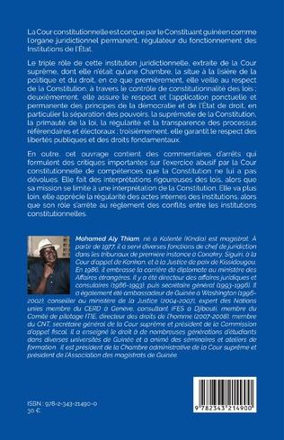 4eme Fonctionnement de la Cour constitutionnelle de la République de Guinée
