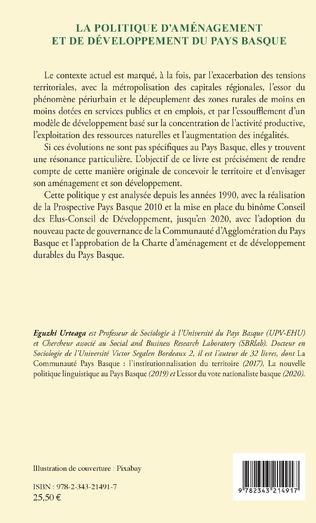 4eme La politique d'aménagement et de développement du Pays Basque