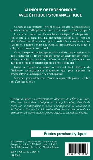 4eme Clinique orthophonique avec éthique psychanalytique