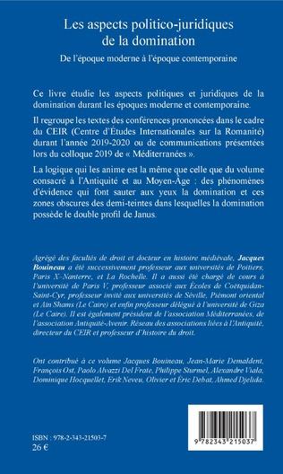 4eme Les aspects politico-juridiques de la domination