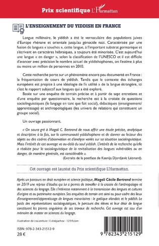 4eme L'enseignement du yiddish en France