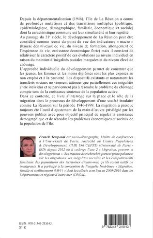 4eme Migrations, emplois et inégalités à l'île de La Réunion (1946-1999)
