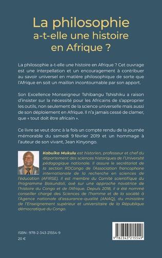 4eme La philosophie a-t-elle une histoire en Afrique ?