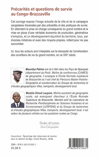 4eme Précarités et questions de survie au Congo-Brazzaville