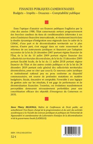 4eme Finances publiques camerounaises