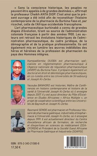 4eme Histoire contemporaine de la pharmacie au BurKina Faso