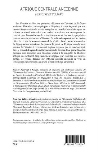 4eme Afrique centrale ancienne. Histoire et culture
