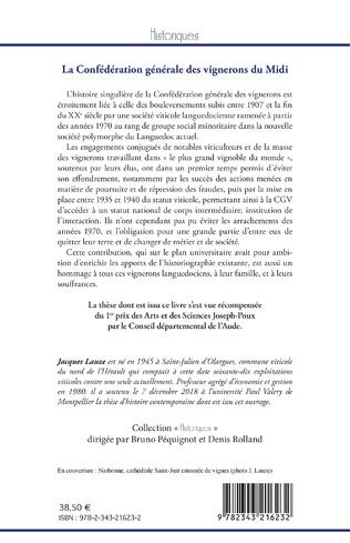 4eme La Confédération générale des vignerons du Midi