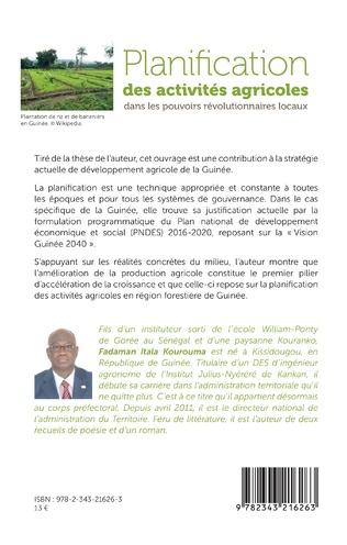 4eme Planification des activités agricoles dans les pouvoirs révolutionnaires locaux