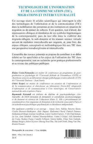 4eme Technologies de l'information et de la communication (TIC), migrations et interculturalité