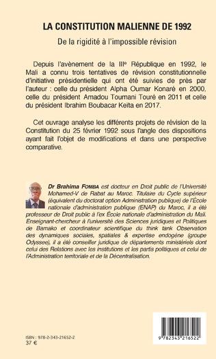 4eme La constitution malienne de 1992