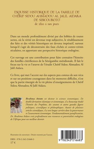 4eme Esquisse historique de la famille de Chérif Sidou Ahmadou Al Jalil Aidara de 1820 à nos jours
