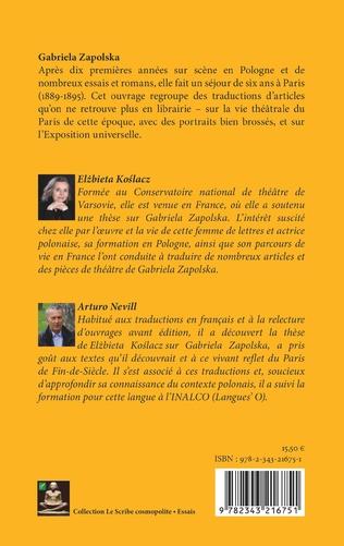 4eme Madame Zapolska et la scène parisienne