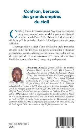 4eme Confran, berceau des grands empires du Mali