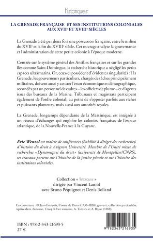 4eme La Grenade française et ses institutions coloniales aux XVIIe et XVIIIe siècles