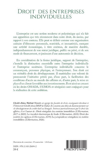4eme Droit des entreprises individuelles (Droit commercial général) 2ème édition