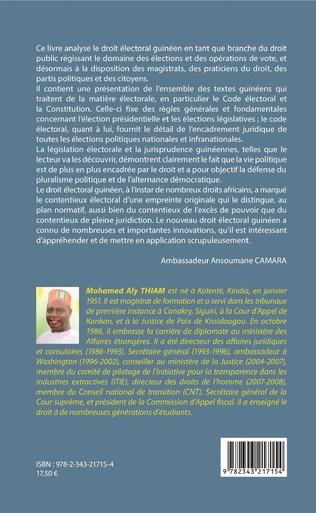 4eme Le droit électoral guinéen. Nouvelle édition