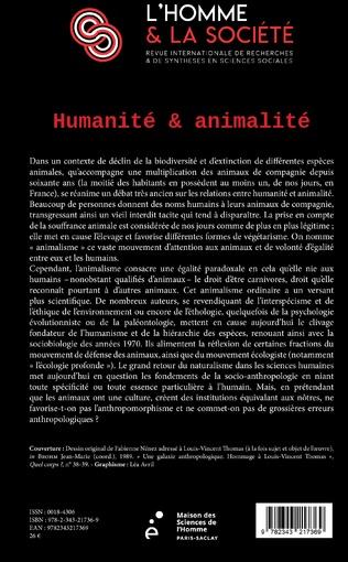 4eme Humanité et animalité