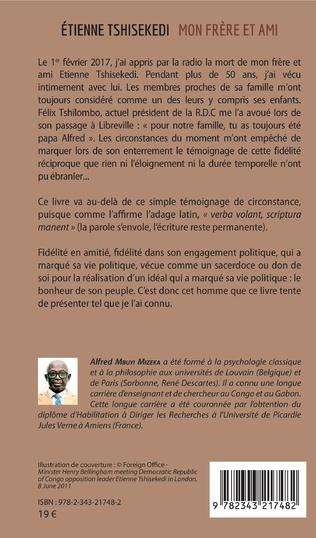 4eme Etienne Tshisekedi mon frère et ami
