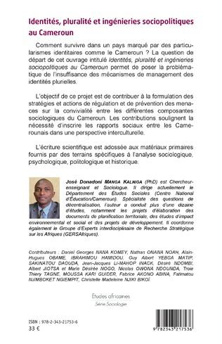 4eme Identités, pluralité et ingénieries sociopolitiques au Cameroun