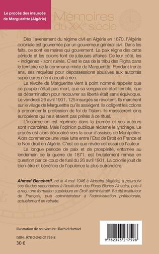4eme Le procès des insurgés de Margueritte (Algérie)