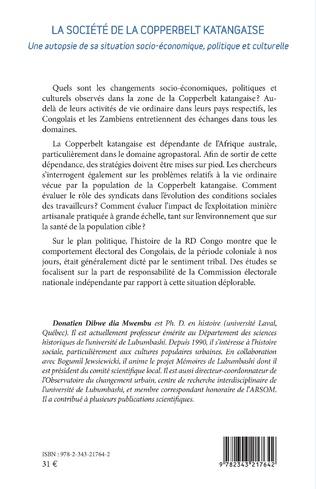 4eme La société de la Copperbelt katangaise