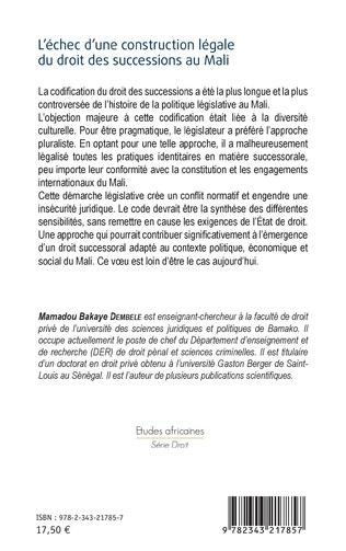 4eme L'échec d'une construction légale du droit des successions au Mali