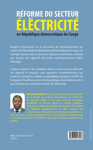 4eme Réforme du secteur de l'électricité en République démocratique du Congo