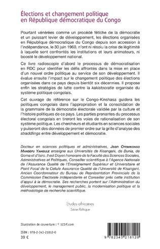 4eme Élections et changement politique en République démocratique du Congo