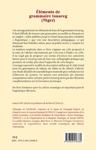 4eme Eléments de grammaire touareg (Niger)