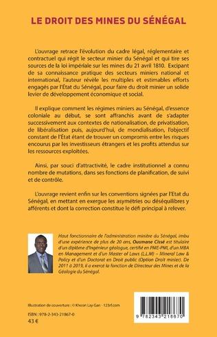 4eme Le droit des mines au Sénégal