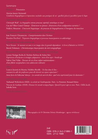 4eme Conditions biographiques et expériences du sujet