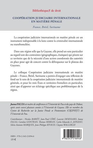 4eme Coopération judiciaire internationale en matière pénale