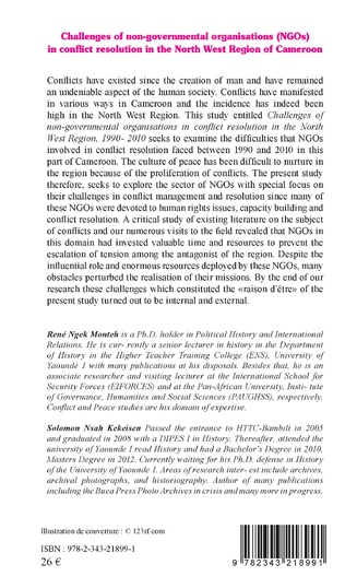 4eme Challenges of non-governmental organisations (NGOs) in conflict resolution