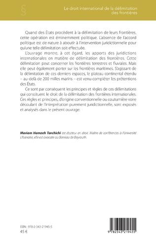 4eme Le droit international de la délimitation des frontières